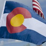 Colorado State Flag Waving